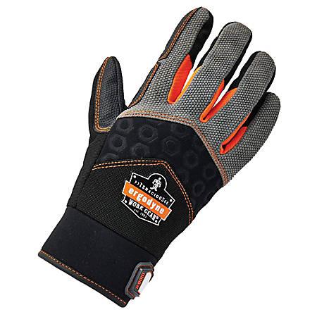 Ergodyne ProFlex 9001 Full-Finger Impact Knit Gloves, Medium, Black