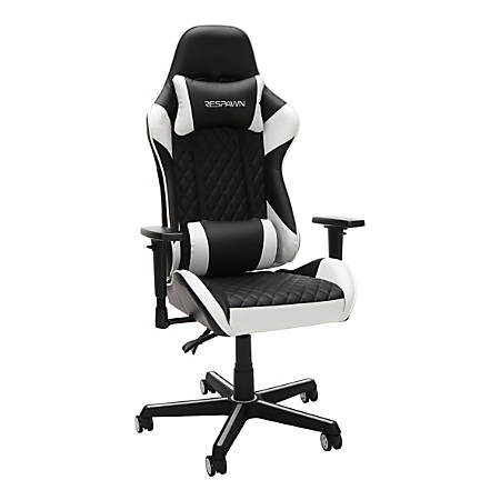 Respawn 100 Racing-Style Leather Gaming Chair, White/Black