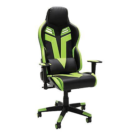 Respawn 104 Racing-Style Leather Gaming Chair, Green/Black