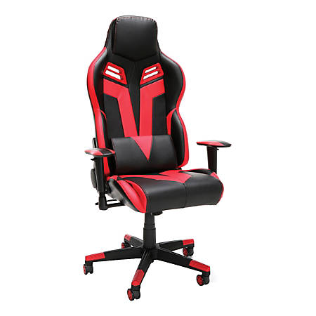 Respawn 104 Racing-Style Leather Gaming Chair, Red/Black