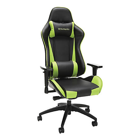 Respawn 105 Racing-Style Leather Gaming Chair, Green/Black