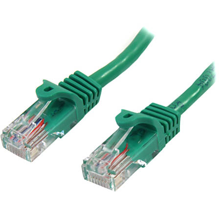 StarTech.com 3 ft Green Cat5e Snagless UTP Patch Cable - Category 5e - 3 ft - 1 x RJ-45 Male - 1 x RJ-45 Male - Green