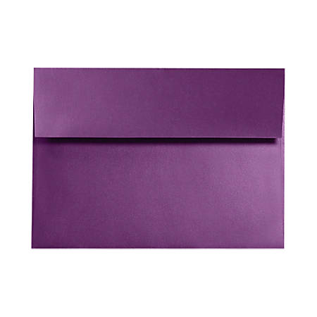 """LUX Invitation Envelopes With Moisture Closure, A9, 5 3/4"""" x 8 3/4"""", Purple Power, Pack Of 50"""
