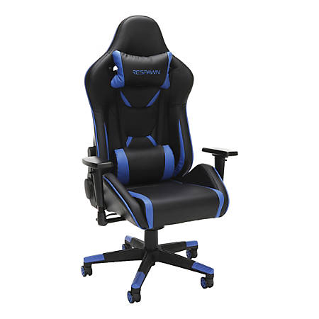 Respawn 120 Racing-Style Leather Gaming Chair, Blue/Black