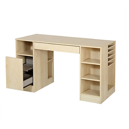 "South Shore Crea Craft Table, 30""H x 53-1/4""W x 23-1/2""D, Natural Maple"