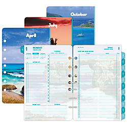 Day Timer Coastlines Daily Planner Refill   X   Percent
