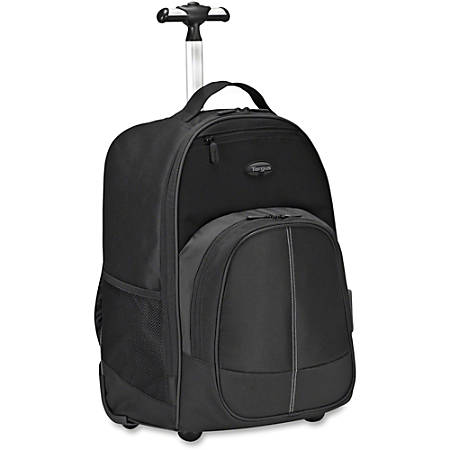"Targus TSB750US Carrying Case (Backpack) for 16"" to 17"" Notebook - Black, Gray - Polyester - Handle, Shoulder Strap - 20.1"" Height x 14.6"" Width x 2.8"" Depth"