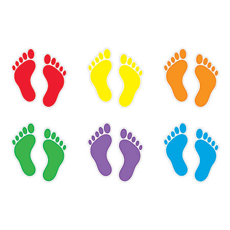Trend® Classic Accents® Variety Pack, Footprints, Pre-K To Grade 6, Pack Of 36