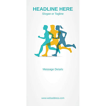 Custom Vertical Display Banner, Marathon