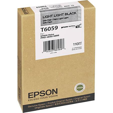 Epson Original Ink Cartridge - Inkjet - Light Black - 1 Each