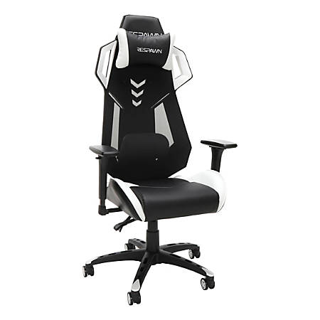 Respawn 200 Racing-Style Gaming Chair, White/Black