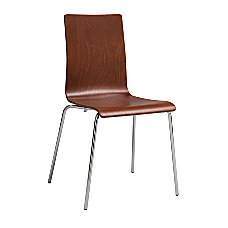 Safco Bosk Stackable Chair Cherry Set