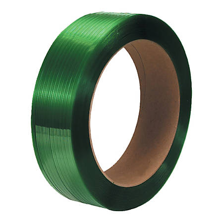 """Office Depot® Brand Smooth Polyester Strapping, 5/8"""" x 2,200', Green, Pack Of 2 Rolls"""