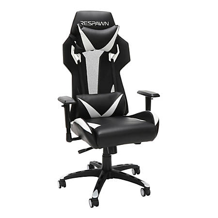 Respawn 205 Racing-Style Gaming Chair, White/Black