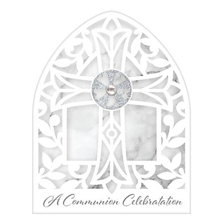 """Amscan Religious Communion Novelty Invitations With Envelopes, A Communion Celebration, 6-1/4"""" x 5"""", 8 Invitations Per Pack, Set Of 2 Packs"""