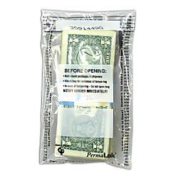 PermaLok Tamper Evident Strap Bags Clear