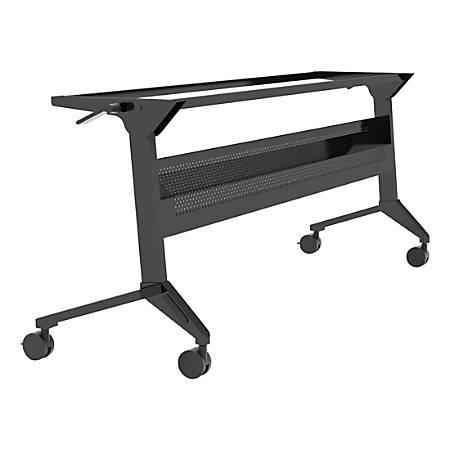 "Safco® Flip-N-Go Training Table Base, 28""H x 72""W, Black"