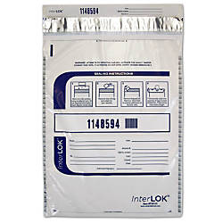 InterLok Tamper Evident Security Bags Clear