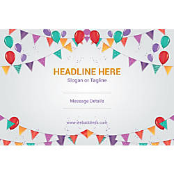 Adhesive Sign Balloons And Buntings Horizontal