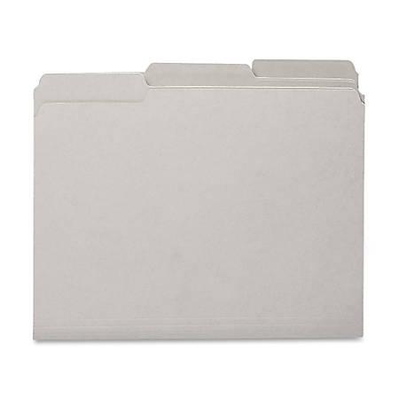 Smead® 1/3-Cut Interior Folders, Letter Size, Gray, Box Of 100