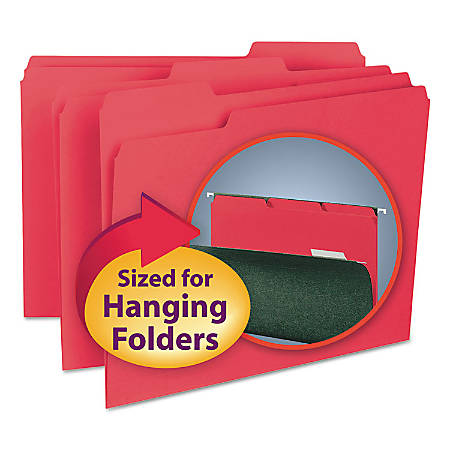 Smead® Interior Folders, Letter Size, Red, Box Of 100