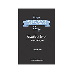Adhesive Sign Carolina Blue Ribbon Vertical