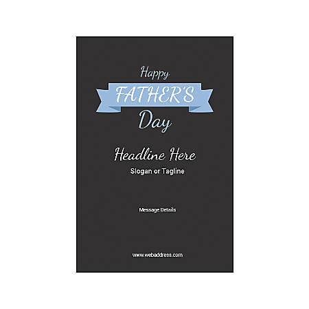 Adhesive Sign, Carolina Blue Ribbon, Vertical