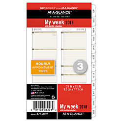 at a glance day runner planner refill weeklymonthly