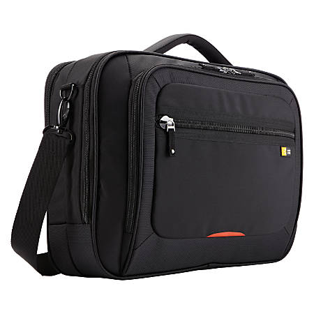 """Case Logic ZLC-216 Carrying Case (Briefcase) for 16"""" Notebook - Black - Nylon - Luggage Strap, Handle, Shoulder Strap - 12.6"""" Height x 17.1"""" Width x 5.7"""" Depth"""