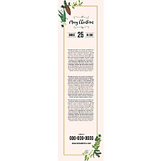 Vertical Banner Template Cream Color