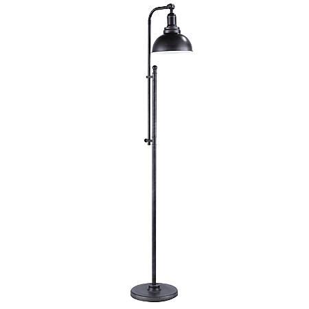 Lumisource Emery Industrial Floor Lamp, Antique Silver
