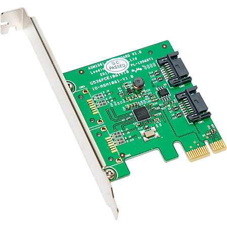SYBA Multimedia SATA III 2 Internal 6Gbps Ports PCI-e Controller Card - Serial ATA/600 - PCI Express 2.0 x1 - Plug-in Card - 2 Total SATA Port(s) - 2 SATA Port(s) Internal
