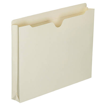 """SKILCRAFT® Manila Double-Ply Tab Expanding File Jackets, 1 1/2"""" Expansion, Letter Size Paper, 8 1/2"""" x 11"""", 30% Recycled, Box Of 50"""