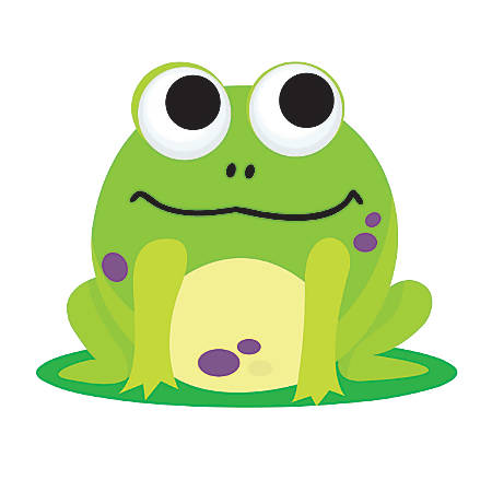 """Ashley Productions Magnetic Whiteboard Erasers, 3 3/4"""", Frog, Pack Of 6"""