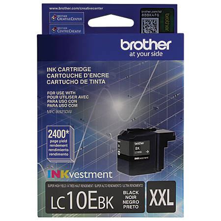 Brother® LC10EBK High-Yield Black Ink Cartridge