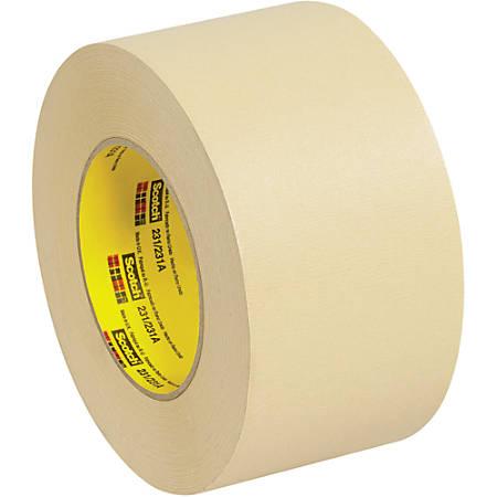 "3M™ 231 Masking Tape, 3"" Core, 3"" x 180', Tan, Case Of 12"