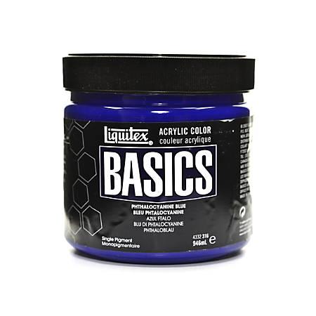 Liquitex Basics Acrylic Paint, 32 Oz Jar, Phthalocyanine Blue