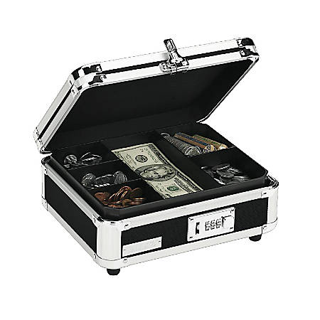 Vaultz® Cash Box, Black