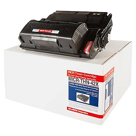 MicroMICR THN-42X (HP Q5942X) Black MICR Toner Cartridge