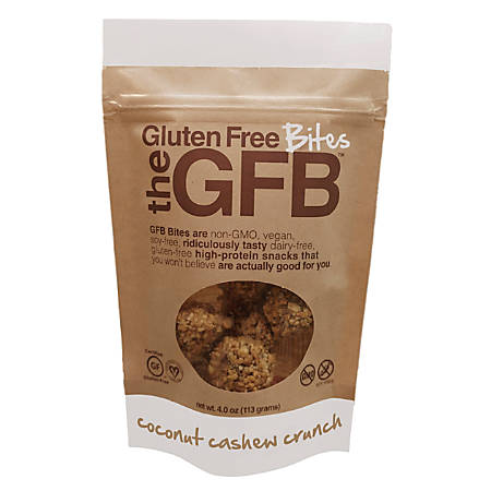 GFB™ The Gluten Free Bites, Coconut Cashew Crunch, 4 Oz, Pack Of 12