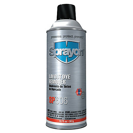 Sprayon® Layout Fluid Removers, 12.75 Oz Aerosol Can, Clear, Pack Of 12 Cans