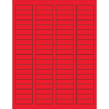 "Office Depot® Brand Labels, LL170RD, Rectangle, 1 3/4"" x 1/2"", Fluorescent Red, Case Of 8,000"