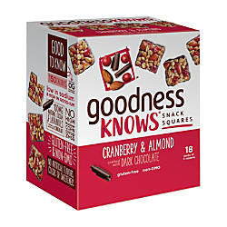 goodnessKNOWS Cranberry Almond And Dark Chocolate