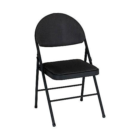 Phenomenal Cosco Xl Comfort Folding Chairs Black Set Of 4 Item 856697 Dailytribune Chair Design For Home Dailytribuneorg