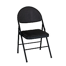 Cosco XL Comfort Folding Chairs Black