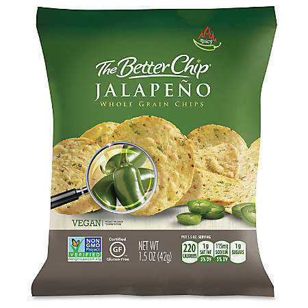 The Better Chip Jalapeno Chips - Gluten-free - Jalapeno - Bag - 1.50 oz - 27 / Carton