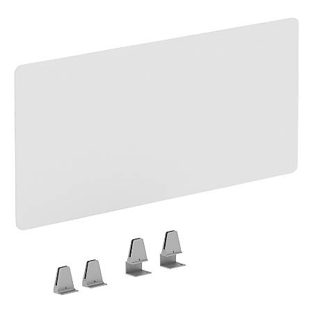 """Lorell® Fortress Educator's Desk Modesty Panel, 15-3/4"""" x 36"""", Clear"""