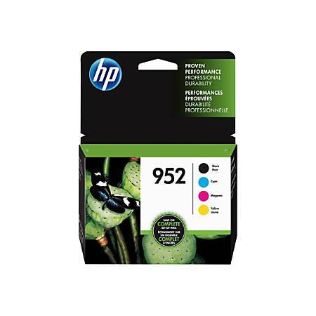 HP 952 Combo Pack - 4-pack - black, yellow, cyan, magenta - original - blister - ink cartridge - for Officejet Pro 7740, 82XX, 87XX