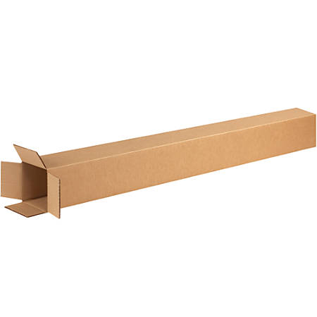 "Office Depot® Brand Tall Corrugated Boxes, 74""H x 4""W x 4""D, Kraft, Bundle Of 10"