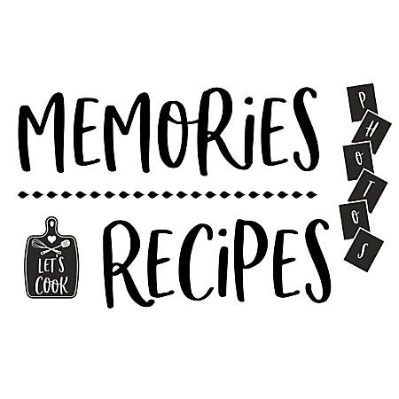 Office Depot® Rub-On Decals, Memories/Recipes, Sheet Of 4 Decals
